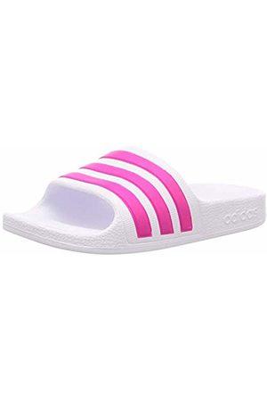 adidas Unisex Kids' Aqua Adilette Sandal, Footwear /Real Magenta/Footwear