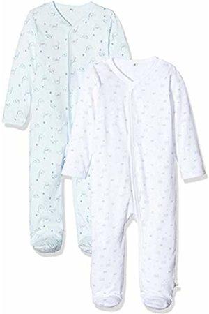 Pippi Baby 2er Pack Schlafanzug Aufdruck, Langarm Mit Füßen Sleepsuit