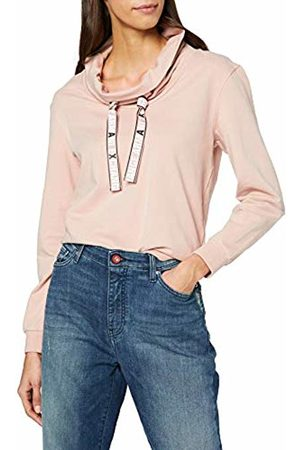 Armani Women Sweatshirts - Women's Cowl Neck Logo Tape Sweatshirt
