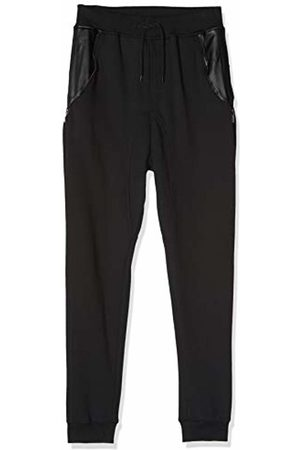Urban classics Men's Side Zip Leather Pocket Sweatpant Trousers, blk 17