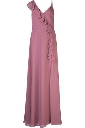 Marchesa Notte Bridesmaids Women Evening Dresses - Ruffle trim bridesmaid gown