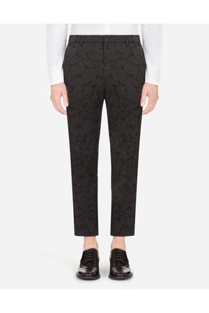 Dolce & Gabbana Trousers and Shorts - FLORAL STRETCH JACQUARD PANTS