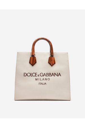 Dolce & Gabbana Collection - DESIGN LOGO SHOPPING BAG IN CALFSKIN WITH LASERED LOGO