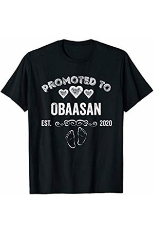 Promoted to 2020 Family Shirts 'N Gifts Promoted to Obaasan Est 2020 Shirt Gift For Mom T-Shirt