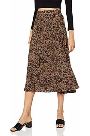 warehouse Women's Ink Spot Pleated Midi Skirt