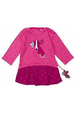 sigikid Baby Girls' Langarm-Kleid Dress, (Shocking 682)