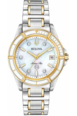 BULOVA Womens Analogue Quartz Watch with Stainless Steel Strap 98P186