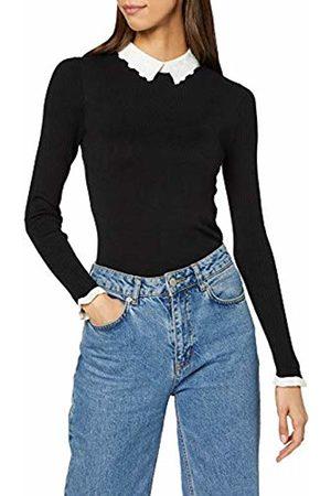 warehouse Women's Lace Collar 3/4 Sleeve Jumper Sweater