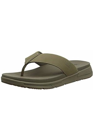 FitFlop Men's Sporty Toe-Thongs Flip Flops, (Timberwolf 326)