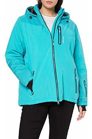 Ulla Popken Womens Skijacke Carbon Optik Parka Jacket
