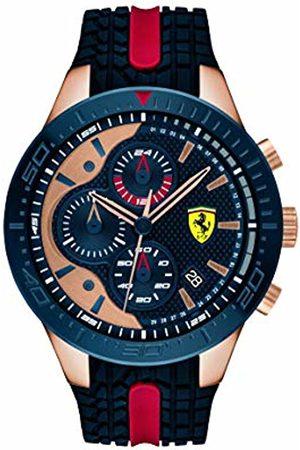 Scuderia Ferrari Mens Chronograph Quartz Watch with Silicone Strap 0830591