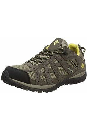 Columbia Women Shoes - Redmond Waterproof, Women Low Rise Hiking Shoes, (Pebble, Sunlit 227)