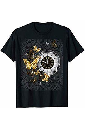 Elegant Vintage Steampunk Designs Steampunk Butterflies Vintage Clock Gears Goth Gift for Wome T-Shirt