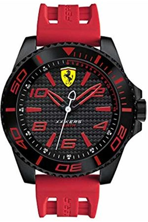 Scuderia Ferrari Men's Analogue Classic Quartz Watch with Silicone Strap 0830308