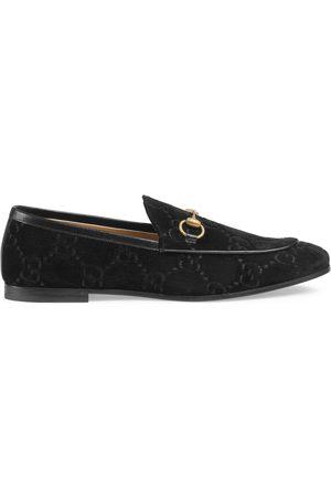 Gucci Jordaan GG velvet loafer