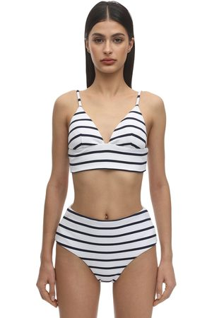 Eberjey Retro Striped Nylon Blend Rib Bikini Top