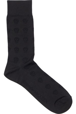 Alexander McQueen Men Socks - Skull Silk Stretch Jacquard Socks