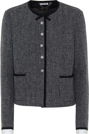 Miu Miu Embellished tweed jacket