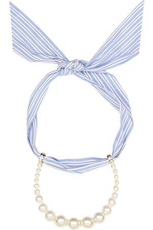 Miu Miu Faux-pearl scarf necklace
