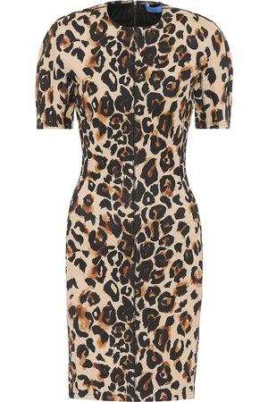 MUGLER Leopard-print jersey dress