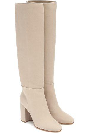 Miu Miu Twill knee-high boots