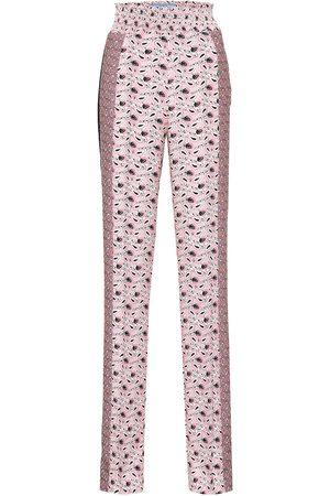Prada Printed high-rise crêpe pants
