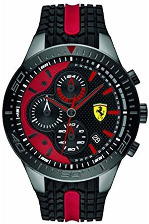 Scuderia Ferrari Mens Chronograph Quartz Watch with Silicone Strap 0830592