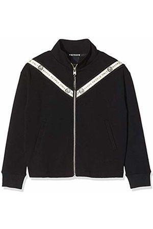Scotch&Soda Girl's Sporty Zip Through Sweat with Tape Details Sweatshirt