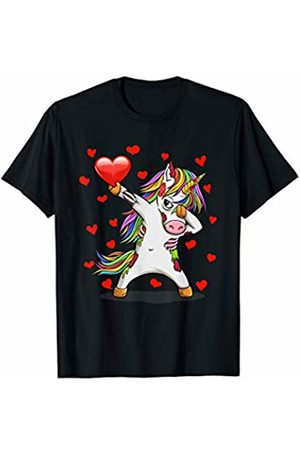 TeeIsle Valentine's Day Apparel Dabbing Zombiecorn Heart Love Valentines Day Gift Girl Boy T-Shirt