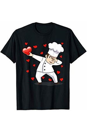 TeeIsle Valentine's Day Apparel Dabbing Chef Red Heart Love Valentines Day Gift Girls Boys T-Shirt