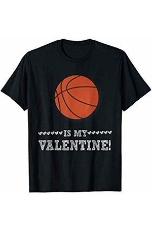 BullQuack Valentine's Day T-shirts - Basketball is My Valentine - Funny Sports Valentine's Day T-Shirt