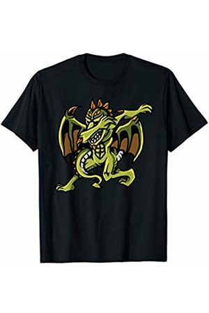 Cute Adult Children Serpent Dab Dance Lover Boys Cool Dabbing Dragon | Funny Draco Beast Hip-Hop Dancer Gift T-Shirt