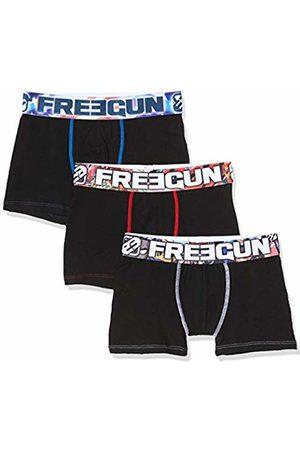 Freegun Boy's Lot De 3 Boxer Garcon Solid Coton Biologique Knickers