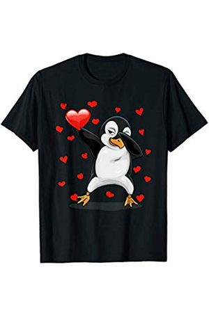 TeeIsle Valentine's Day Apparel Dabbing Penguin Heart Love Valentines Day Gift Girls Boys T-Shirt