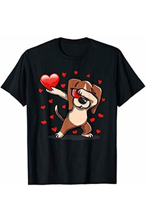 TeeIsle Funny Valentine's Day Apparel Dabbing Beagle Sunglasses Valentines Day Heart Love Gift Kid T-Shirt