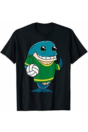 Cute Animal Clothing Funny Kawaii Whale Holding A Volleyball Gift Sports Lovers T-Shirt