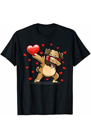 TeeIsle Funny Valentine's Day Apparel Dabbing Pug Sunglasses Valentines Day Love Heart Gift Kids T-Shirt