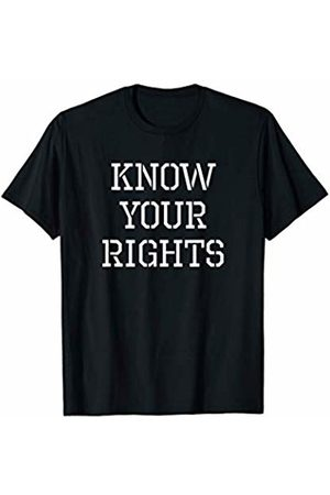 Punk Rock Geschenke Retro Punk Clash Know Your Rights Protest T-Shirt