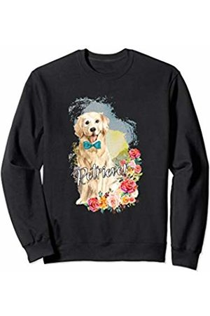 Super Cute Dog Puppy Clothing and Gifts Golden Retriever Gift Watercolor Bow Sweatshirt