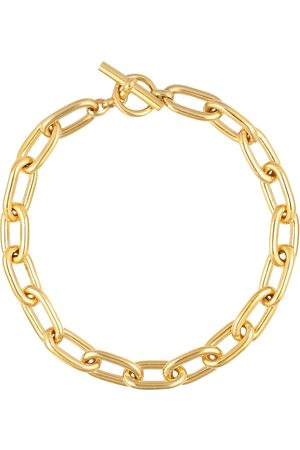 Tilly Sveaas Large Oval Linked 18kt -plated necklace