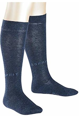 Esprit Kids Foot Logo 2-Pack Knee-Highs - Cotton Blend (Navy Melange 6490), UK 9-11.5 (Manufacturer size: 27-30)