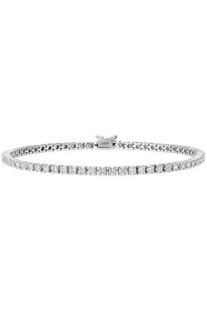 777 18kt gold diamond tennis bracelet - 114 - :