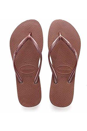 Havaianas Slim, Women's Flip Flop Sandals, (Bronze Nude)