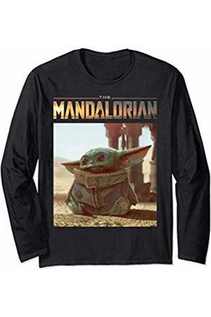 STAR WARS The Mandalorian The Child Logo Sitting Portrait Long Sleeve T-Shirt
