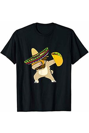 Dogs of Greatness Cinco De Mayo Dabbing Pug Dog Taco Mexican Sombrero Gift T-Shirt