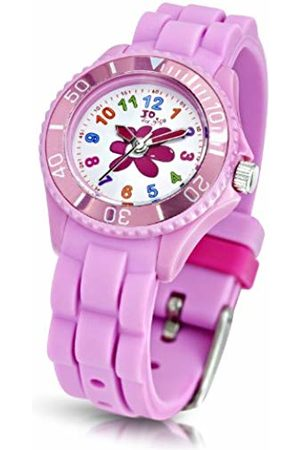 Jo Flower Quartz Watch for Girls 50m Water Resistant with Silicone Strap
