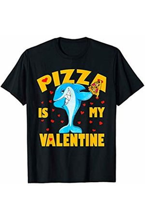 Funny Pizza Is My Valentine by TeeIsle Pizza Is My Valentine Dabbing Shark Valentine's Day Gift Kid T-Shirt