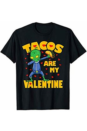Funny Tacos are My Valentine by TeeIsle Tacos Are My Valentine Dabbing Alien Valentines Day Gift Kid T-Shirt