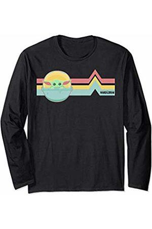 Star Wars The Mandalorian The Child Retro Rainbow Cartoon Long Sleeve T-Shirt