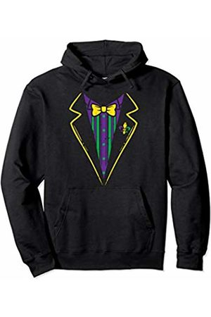 BoredKoalas Funny Mardi Gras Clothes 2020 Costumes Lazy Tuxedo Costume Bow Tie Funny Mardi Gras Carnival Boys Pullover Hoodie